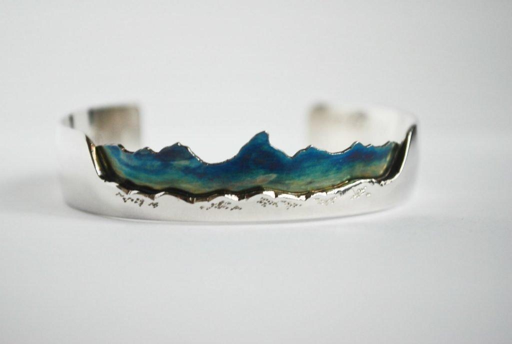 Custom Mountain Bracelet from Wild Child Jewelry Designs