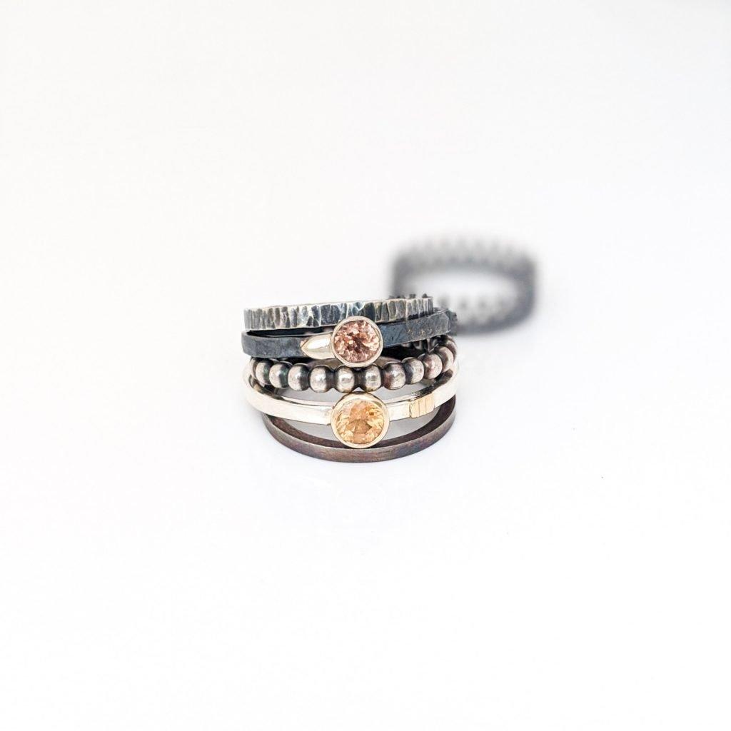 Stacker Rings from Rocky Pardo Jewelry