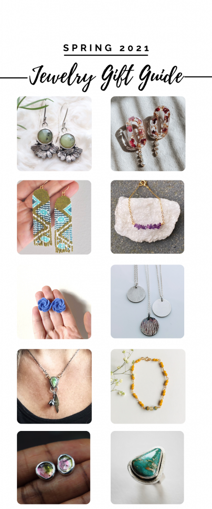Spring 2021 Jewelry Gift Guide / Handcrafted Jewelry for Spring